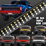 EXPERTBEAM 60 Triple LED Tailgate Light Bar 504 LED Solid Beam Full Function Turn Signal Brake Parking Reverse Lights for Trailer Pickup Jeep RV Van Dodge Ram Chevy GMC No Drill Install