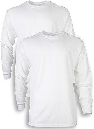 Gildan - Camiseta de manga larga para hombre, ultra algodón, paquete de 2: Amazon.es: Ropa y accesorios