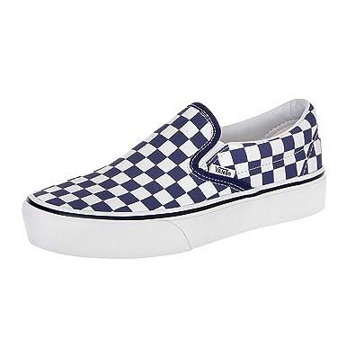 db543979f4 Vans - Sneaker - Ua Classic Slip-On Platform - Blau Weiß (34 EU ...