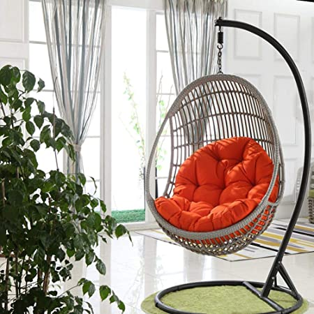Yuany Swing Hanging Chair Seat Cushion Hanging Egg Hammock Chair Pads Waterproof Thicken Nest Hanging Chair Back For Patio Garden 90120cm Big Sale No Chair Amazon Co Uk Kitchen Home