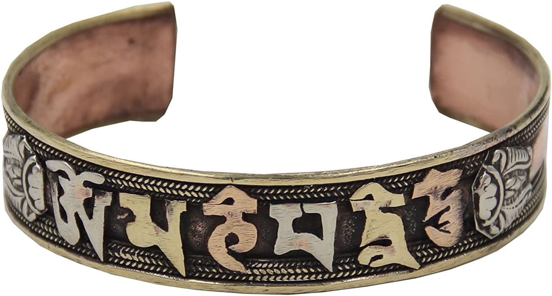 Pulsera sanadora de cobre «Om Mani Padme Hum». Fabricada en 3 ...