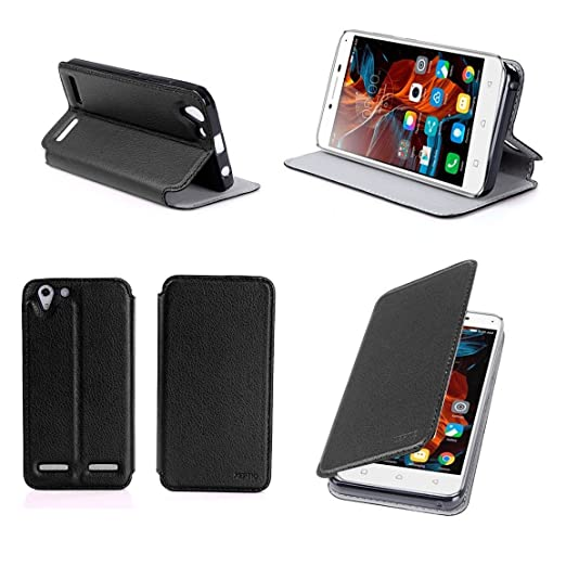 4 opinioni per Nera Custodia Pelle Ultra Slim per Lenovo K5 / K5 PLUS Dual Sim smartphone- Flip