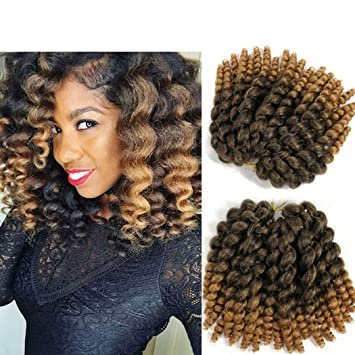 Amazon Com 8 Inch Wand Curl Braids Hair 20 Roots 3 Packs Jamaican