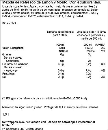 La Casera - Tinto de verano sin alcohol Limón - 1,5 L