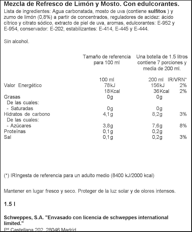 La Casera Tinto de Verano sin Alcohol, Sabor a Limón - 1500 ml: Amazon.es: Amazon Pantry