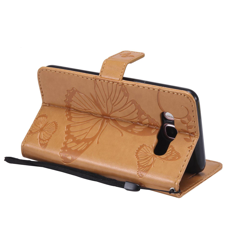Vectady f/ür Samsung Galaxy J5 2016 Handyh/ülle Flip Case Cover Schutzh/ülle Tasche H/üllen Leder Handytasche Magnet Geldb/örse Klapph/ülle f/ür Samsung Galaxy J5 2016 J510 H/ülle J510,Orange