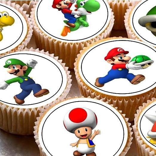 Print4you - 24 adornos para tartas de personajes de Super ...