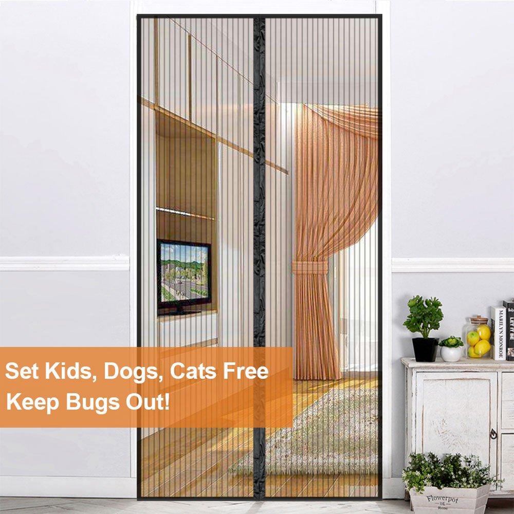 Upgraded Magnetic Screen Door 38 X 82 Inches Max Magnet Screen Door