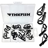 THKFISH Rod Tip Repair Kit Rod Repair Kit Fishing Rod Tips Stainless Steel Ceramic Ring Guide Rod Repair Replacement…
