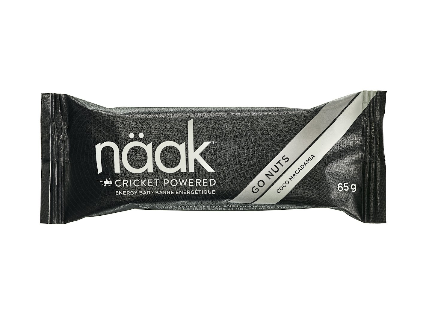 Naak Energy Bars, Coco Macadamia, Cricket Protein Powder (12 Pack)