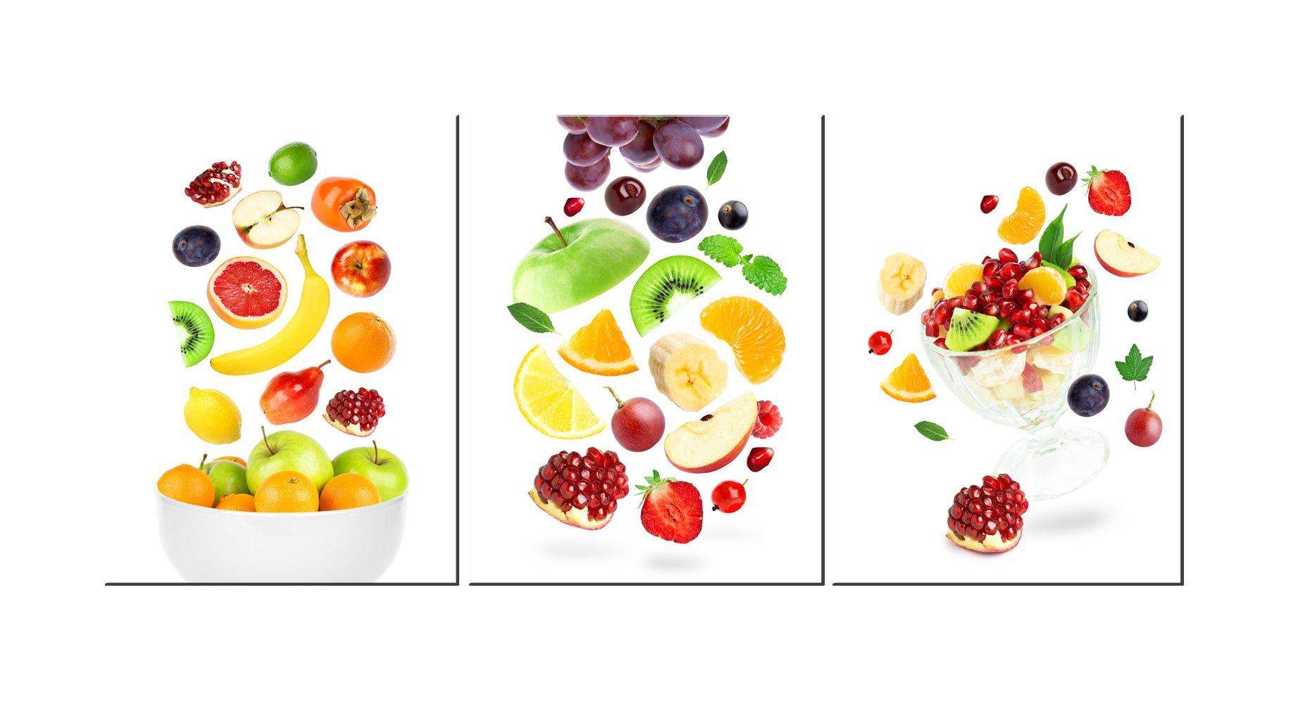 Kitchen Canvas Wall Art Fruits Artwork - 12