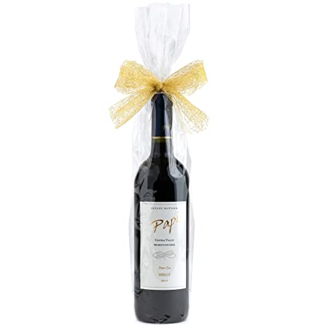 Clear Cellophane Bags for Wine Bottles 4