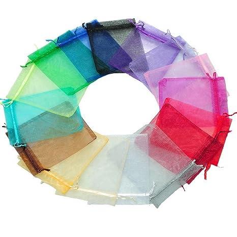 Souarts mezclados al azar transparente bolsas de Organza ...