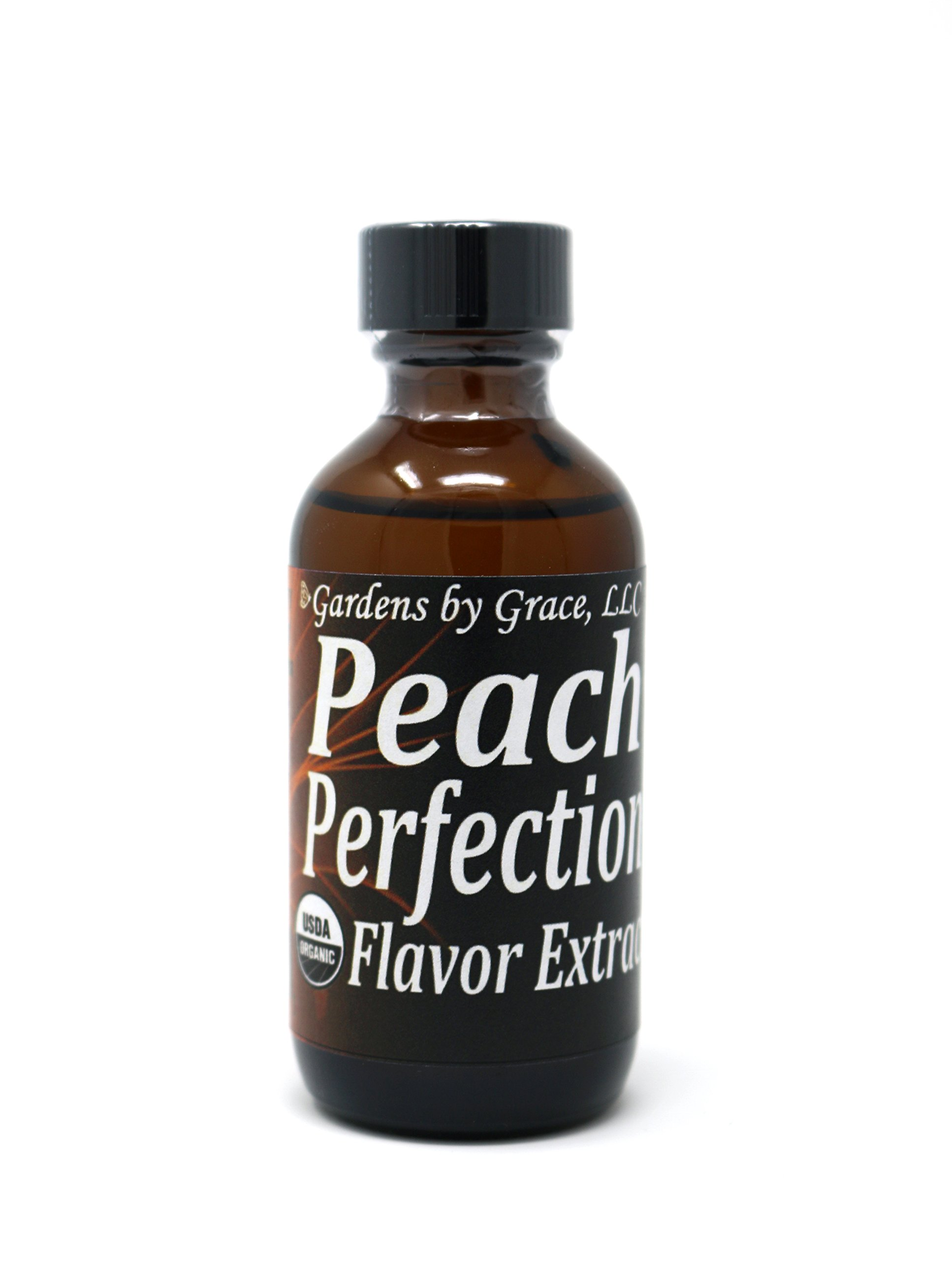 Organic Flavor Extract Peach | Use in Gourmet Snacks, Candy, Beverages, Baking, Ice Cream, Frosting, Syrup and More | GMO-Free, Vegan, Gluten-Free, 2 oz by Gardens by Grace (Image #1)