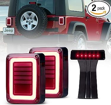 Xprite LED Tail Lights w// Turn Signal//Brake//Reverse for 07-18 Jeep Wrangler JK