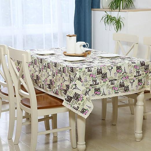 eazyhurry lino y algodón hojas diseño de flores mantel cuadrado ...