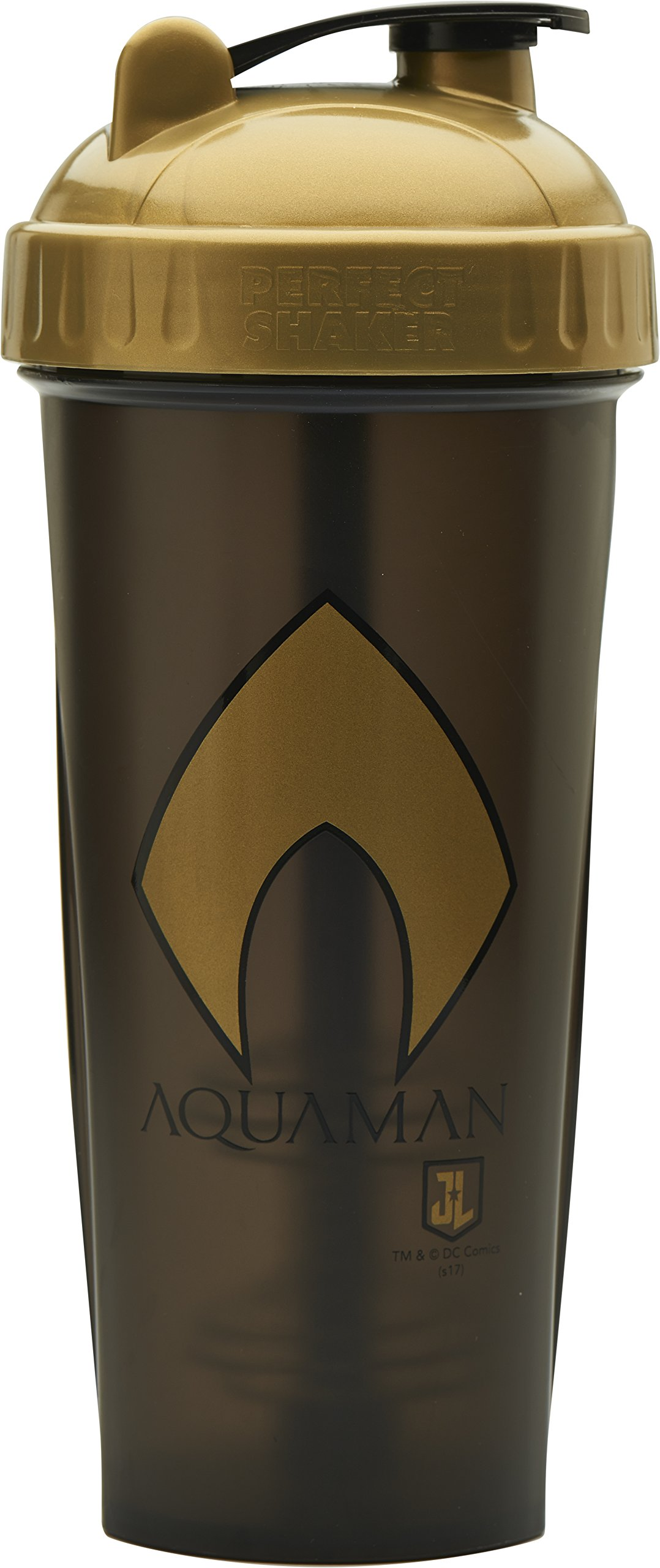 Performa Perfect Shaker - Justice League Movie Series, Leak Free Protein Shaker Bottle With Actionrod Mixing Technology For All Your Protein Needs! Shatter Resistant & Dishwasher Safe (Aquaman)
