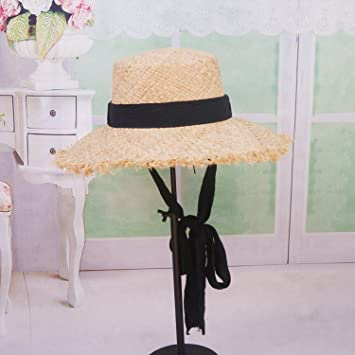 89fc43c4e0074 Image Unavailable. Image not available for. Color  Sllxgli straw hat hat  hard female summer ...
