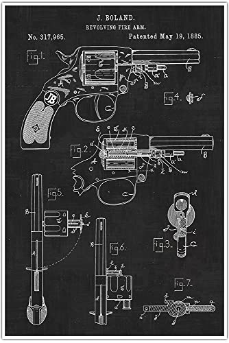 Amazon weapons patent print 45 revolver blueprint patent weapons patent print 45 revolver blueprint patent patent poster blueprint poster malvernweather Image collections