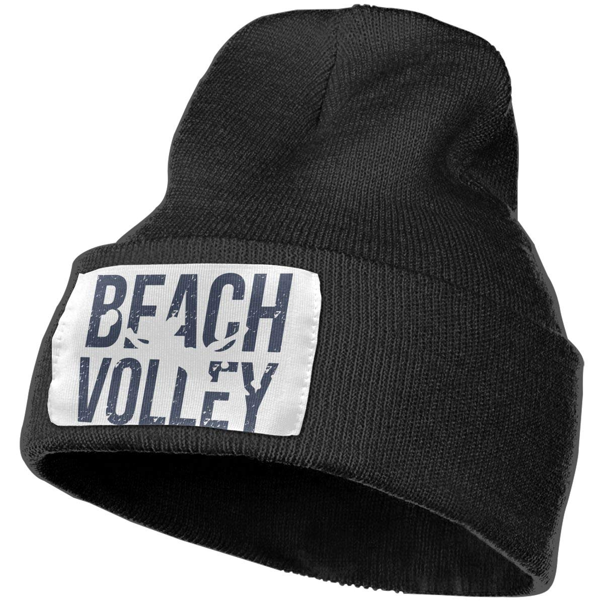 Adults Beach Volley Elastic Knitted Beanie Cap Winter Warm Skull Hats