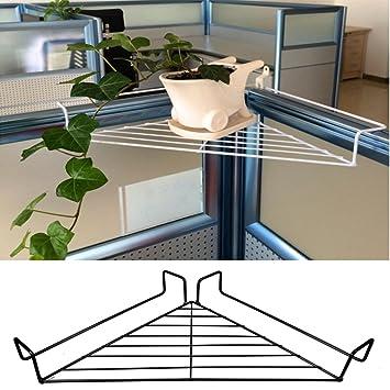 Good Caveen Office Cubicle Sundries Storage Rack Metal Hanging Office Cubicle  Corner Shelf Floating Cubicle Wall Organizer