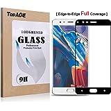 OnePlus 3 / OnePlus Three Protector de Pantalla, TopAce® [Curvado 3D] Vidrio Templado Protector de Pantalla Completa Tempered Glass Screen Protector para OnePlus 3 / OnePlus Three (Negro)
