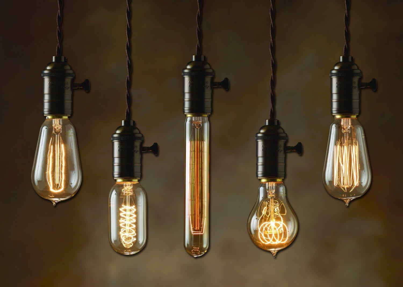 Bulbrite NOS25-VICTOR/A23 25-Watt Nostalgic Edison A23 Bulb, Victorian Loop Filament - 2 Pack