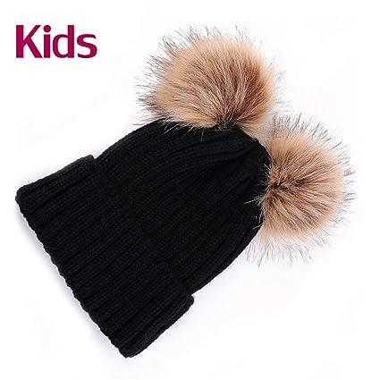 Amazon.com: SexT Hats Cute Winter Mom Women Baby Kids Crochet ...