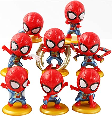 Avengers Superhero Set of 12 Figures Toy Cake Toppers Party Bag Filler Birthday