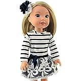 Inclinaison Poupées Vêtements poupées robe à jupe pour 24-26 cm poupées 10024j