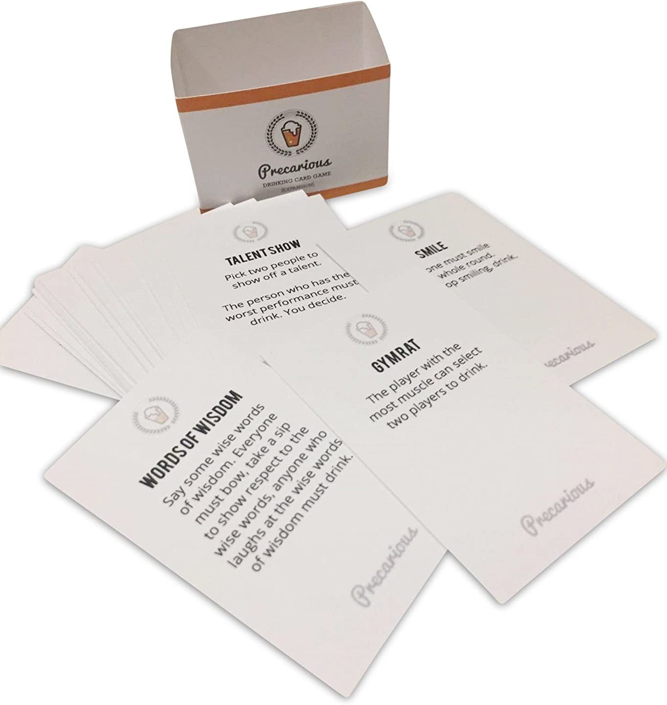 Precarious Drinking Game A Fun Party Ga 50 Unique Cards To Decide Who Drinks