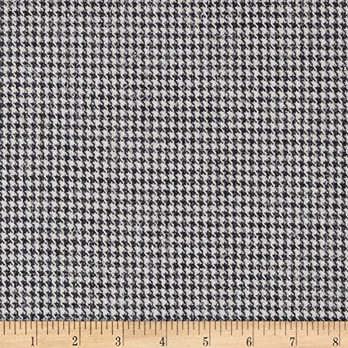 Ametex LLC Houndstooth Suiting Grey/White Fabric by The Yard