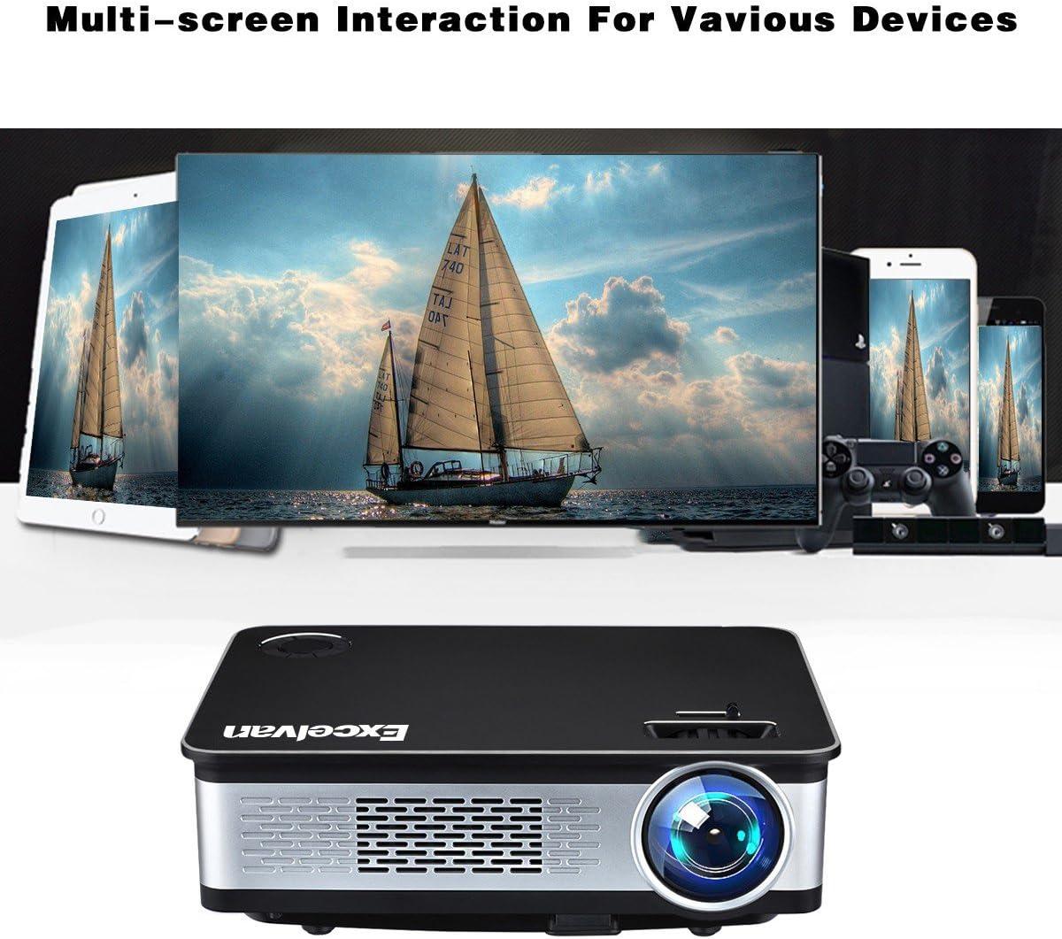 Excelvan Z720 - Proyector LED 1080P(3300 Lúmenes,128 x 768 ...