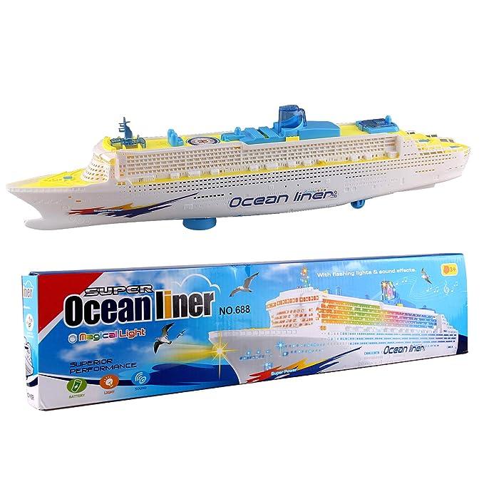 2 opinioni per Vococal Nave Giocattolo, Barca Giocattolo Bambini Elettrico Veloce Luci a LED