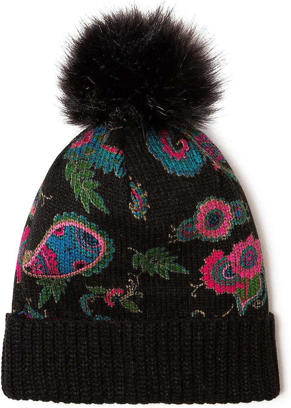 Desigual Cappello Beretto Donna Nero Hat Anubis 19wahk03 3002