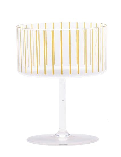 Amazoncom Sugar Cloth Gold Stripe Plastic Champagne Or Dessert