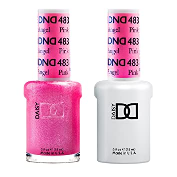 Amazon Com Dnd Gel Matching Polish Set 483 Pink Angel Beauty