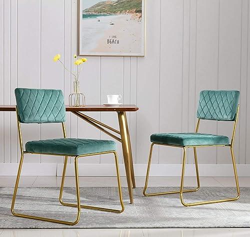 Wahson Upholstered Velvet Modern Dining Chairs Set of 2
