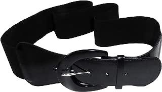 product image for Funfash Plus Size Women Cinch Black Patent Leather Stretch Elastic Belt 3X 24 26