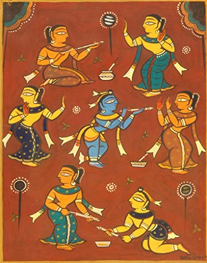 Krishna and Gopis - Lord Krishna Collection - Large Size Premium Quality  Unframed Wall Art Print On Canvas (19 inches x 24 inches) for Home and  Office