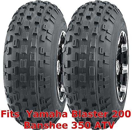 2 21x7-10 21x7x10 Yamaha Blaster 200 Banshee 350 ATV Front Tire Set 6PR