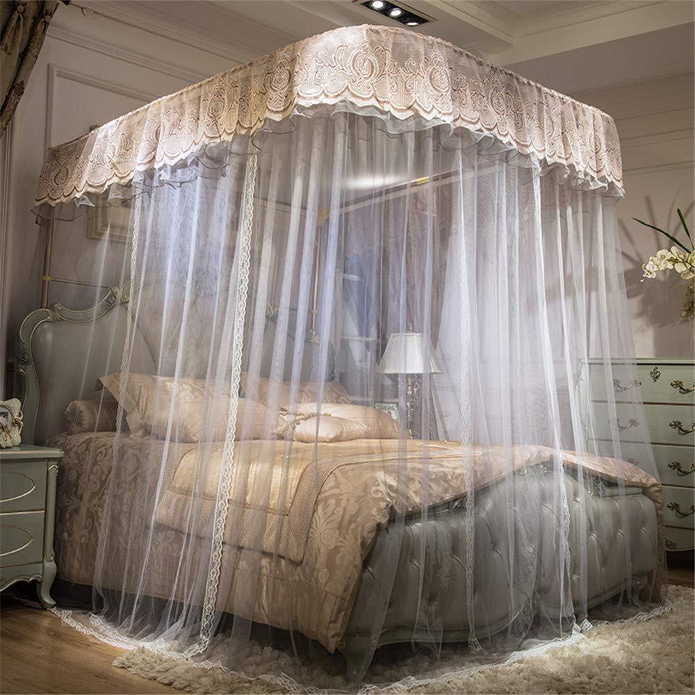 U-Guide Mosquito net Princess Style Mosquito net encryption Thickening Mosquito net Children's Mosquito net Bedding, Light Brown, 180220cm by RFVBNM Mosquito net (Image #2)