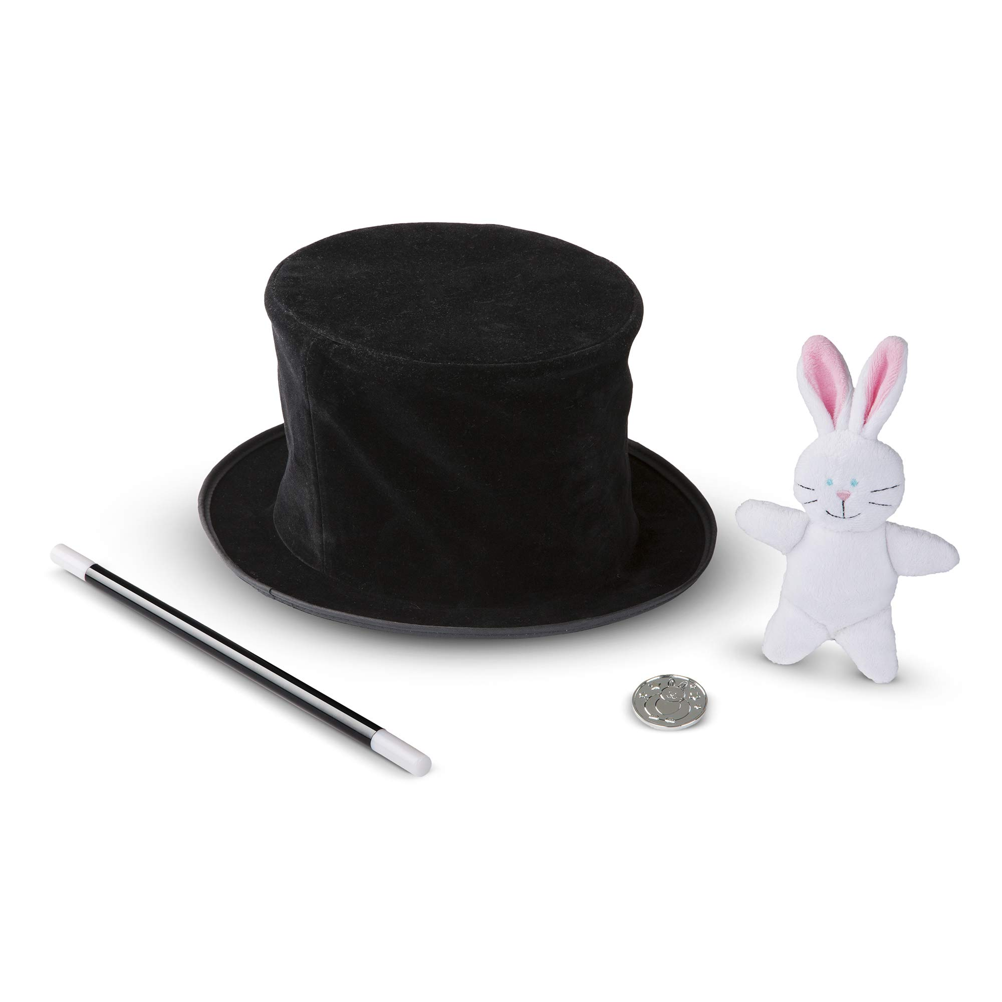 Melissa & Doug Magic in a Snap! Magician's Pop-Up Hat with Tricks (Illustrated Instructions, 4 Pieces, Great Gift for Girls and Boys - Best for 4, 5 and 6 Year Olds) by Melissa & Doug