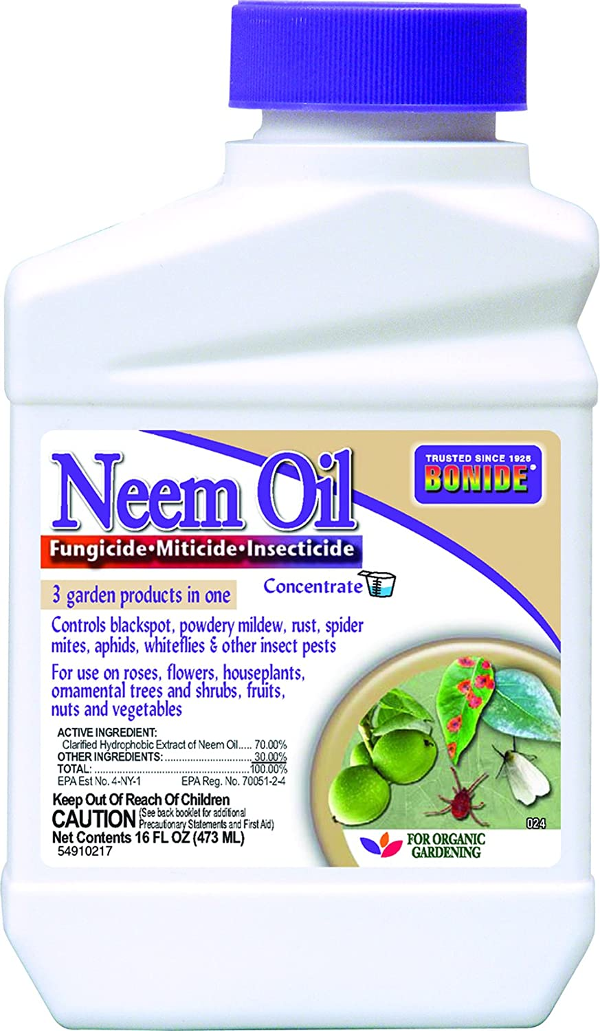 Bonide Products INC B006QYSAPQ 024 Concentrate Neem Oil Insect Repellent, 16-Ounce, 1, Multi