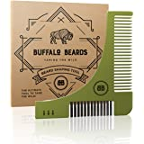 The Best Beard Shaping Tool from Buffalo Beards Includes Brush, Comb and User Guide