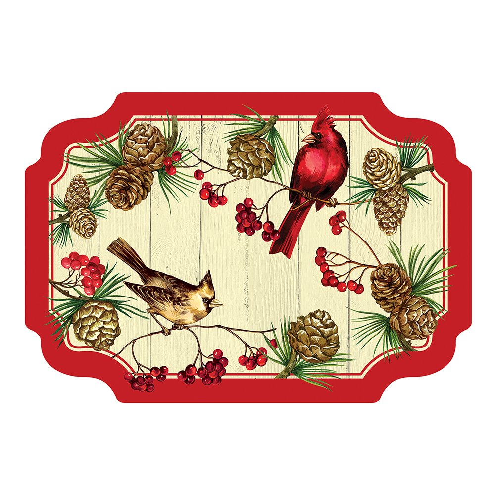 Hoffmaster 311152 Winter Cardinal Paper Placemat, 9.75'' x 14'', Disposable (Pack of 1000)