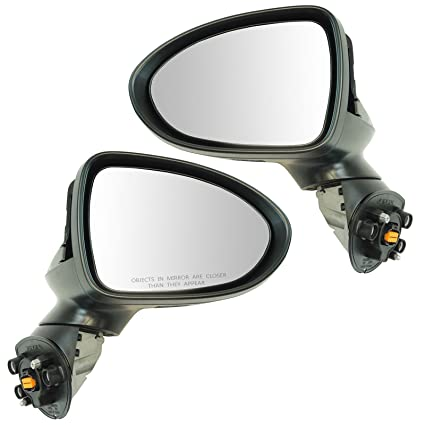 Exterior Power Heated Mirror Black Smooth LH Driver Side for Kia Forte New