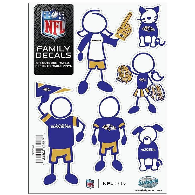 NFL Baltimore Ravens Small Family Decal Set Siskiyou FFSD180