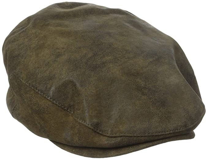 cd9b91e55d303 Stetson Men s Weathered Leather Ivy Cap  Amazon.ca  Clothing ...