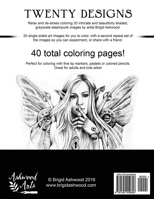 amazon com steampunk grayscale coloring book 9781540459848